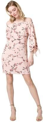 Le Château Women's Floral Off-The-Shoulder Summer Dress,M