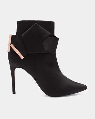 Ted Baker CELIAHH Knotted bow satin ankle boots