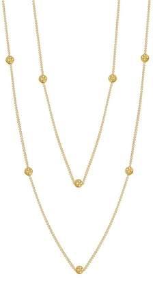 Lafonn 18K Gold Vermeil Simulated Diamond Micro Pave Diamond Dots Necklace