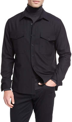 Vince Twill Military Shirt