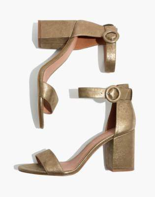Madewell The Regina Ankle-Strap Sandal in Metallic
