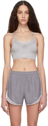 Nike Grey Seamless Light Sports Bra