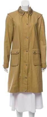 Gryphon Knee-Length Embellished Coat