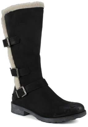 White Mountain Footwear Santell Mid Calf Faux Fur Trim Boot