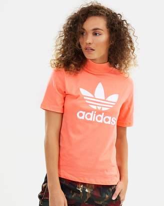 adidas High Neck Logo T-Shirt