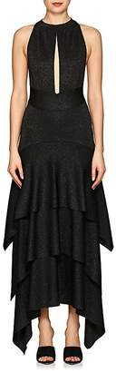 Proenza Schouler Women's Metallic Jersey Asymmetric Fit & Flare Dress