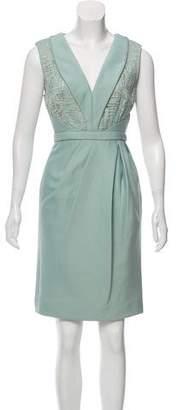 J. Mendel V-Neck Midi Dress