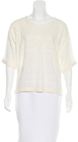 IROIro Embroidered Short Sleeve Top