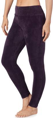 Cuddl Duds Plus Size Double Plush Velour Leggings