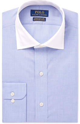 Polo Ralph Lauren Blue Slim-Fit Checked Cotton Shirt