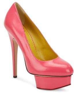 Charlotte Olympia Dolly Leather Platform Pumps
