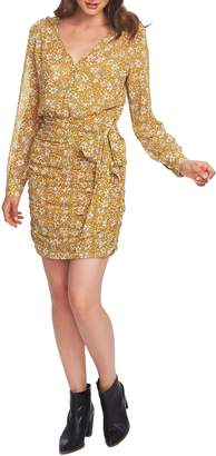 1 STATE 1.STATE Wild Blooms Wrap Front Minidress