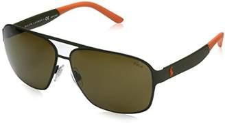 Polo Ralph Lauren Men's Metal Man Square Sunglasses
