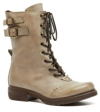 Manas Design Lace-Up Side Buckle Boot