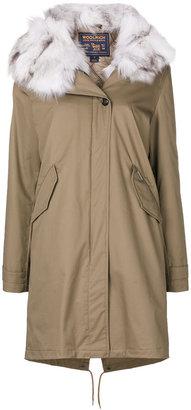 Woolrich furry trim coat $1,679 thestylecure.com