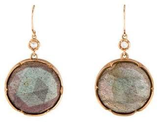 Irene Neuwirth 18K Labradorite & Diamond Drop Earrings