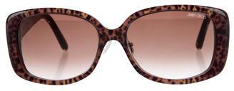 Jimmy ChooJimmy Choo Leopard Print Gradient Sunglasses