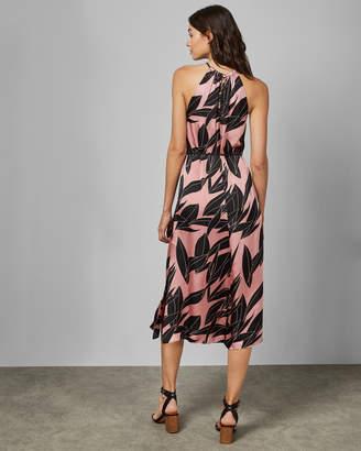 Ted Baker LEAHLA Sour Cherry halter neck dress