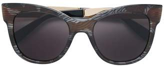 Max Mara Textile patterned sunglasses