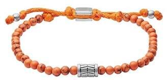 Fossil Vintage Casual Orange Beaded Bracelet