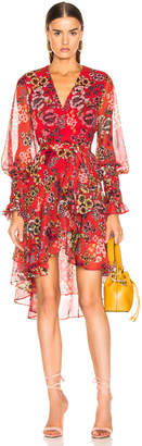 Alexis Sidony Dress in Eden Floral Red | FWRD