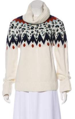 Veronica Beard Patterned Turtleneck Sweater