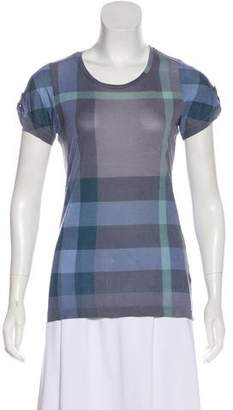 Burberry Exploded Check Short Sleeve Top