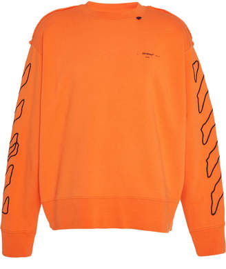 Off-White Off White C/O Virgil Abloh Abstract Arrows Printed Cotton-Terry Sweatshirt