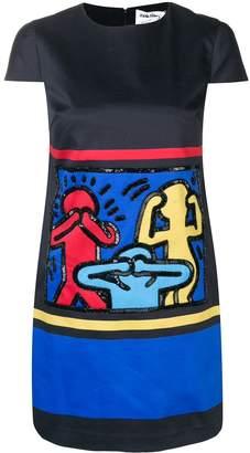 Alice + Olivia Alice+Olivia AO x Keith Haring embellished dress