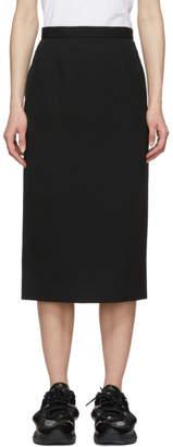 Comme des Garcons Black Wool Pencil Skirt