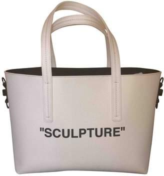 Off-White Off White Binder White Cloth Handbag