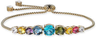 Danori Gold-Tone Multicolor Crystal Slider Bracelet