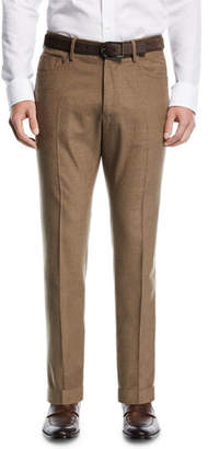 Incotex Five-Pocket Flannel Dress Pants