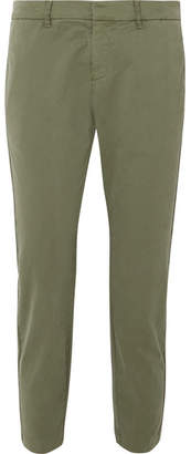 Nili Lotan Tel Aviv Cotton-blend Twill Slim-leg Pants - Green