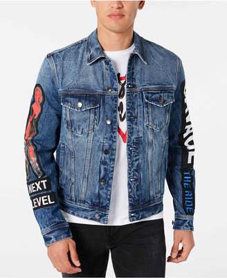 GUESS Men Denim Concert Jacket