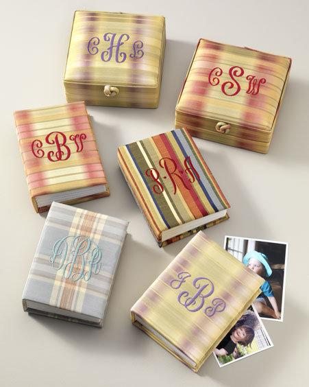 Silk Ombre Plaid Photo Boxes & Albums