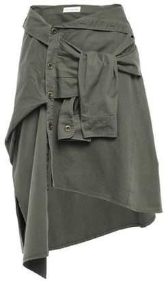 Faith Connexion Asymmetric Tie-front Denim Skirt