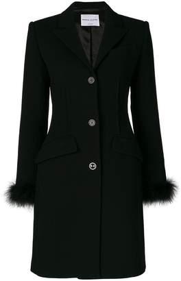 Sonia Rykiel feather trim button coat