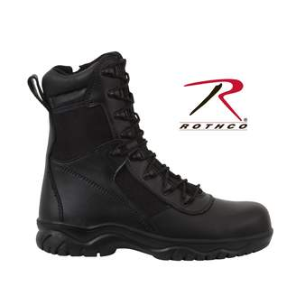 Rothco Forced Entry 8'' Side Zipper Composite Toe Tactical Boot - Size D(M) US