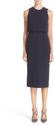Women's Nordstrom Signature And Caroline Issa Swing Back Crepe Dress $799 thestylecure.com