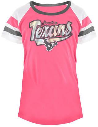 5th & Ocean Houston Texans Pink Foil T-Shirt, Girls (4-16)
