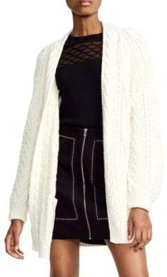 Maje Knitted Wool-Blend Cardigan