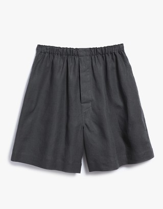 Oversize Boxer Shorts in Ink $299 thestylecure.com