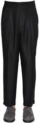 Giorgio Armani 19 Cm Wool Silk Sablè Trousers