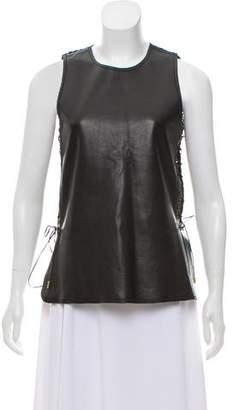 Salvatore Ferragamo Sleeveless Leather Top