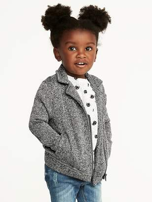 Old Navy Fleece-Knit Moto Jacket for Toddler Girls
