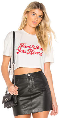 by the way. Justice Cropped Tee
