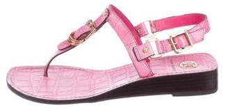 Tory Burch Leather Buckle Sandals