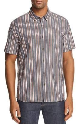 BANKS Apres Striped Short-Sleeve Regular Fit Shirt