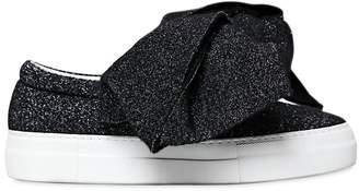 Joshua Sanders 30mm Bow Lurex Felt Slip-On Sneakers